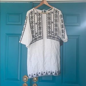 NWT Zara embroidered mini dress size M
